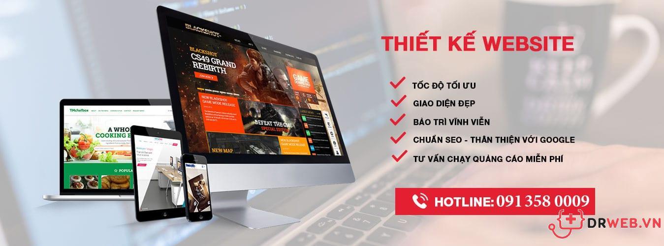 dịch vụ thiết kế website drweb