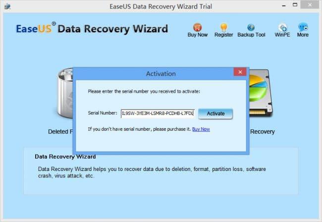 Key EaseUS Data Recovery Wizard