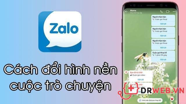 Cách cài đặt thay đổi hình nền chat Zalo